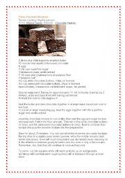 English Worksheets: Chocolate Heaven - Triple Chocolate Brownie