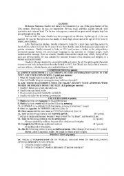 English Worksheet: gandhi