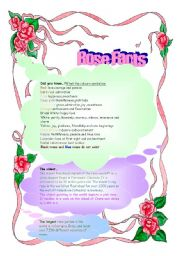 English Worksheets: Rose Facts