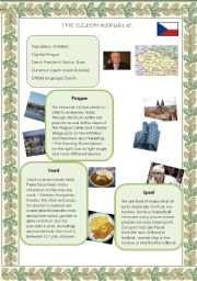 English Worksheet: The Czech Republic (18.08. 2008)