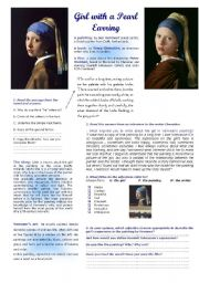 English Worksheets: Girl with a Pearl Earring