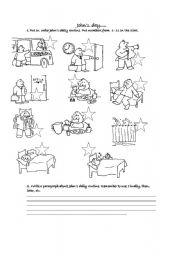 English Worksheets: jOHN�S DAILY ROUTINE