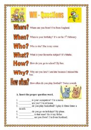 English Worksheets: Question Words (20.08.08)