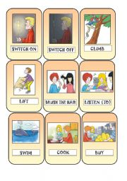 English Worksheets: Action Cards 2
