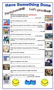 English Worksheet: Passive Voice: Causative Have