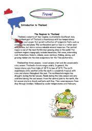 English Worksheet: Travel in Thailand