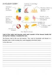 English Worksheets: A Holiday Diary