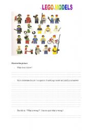 English Worksheets: LEGO MODELS