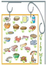English Worksheets: On the menu