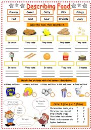 English Worksheets: How does it taste??