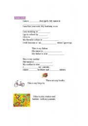 English Worksheets: myself...