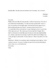 English Worksheets: Serge�s letter