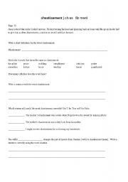 English worksheets: The Giver: vocabulary word analysis