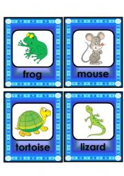 English Worksheets: lovely animal and creature flashcard set - 4th part