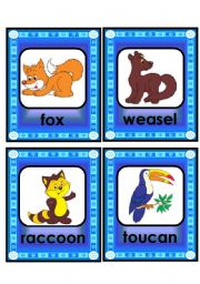 English Worksheets: lovely animal and creature flashcard set - 1st part