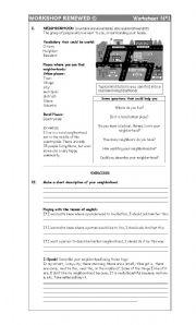 English Worksheets: The Neighborhood