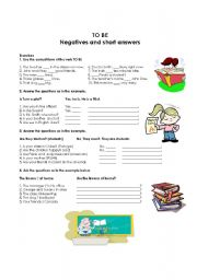 English Worksheet: Yes / no questions and short answers practice