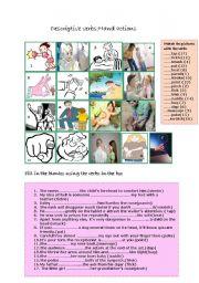 Descriptive vebs:hand actions