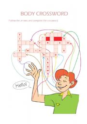 English Worksheets: body crossword