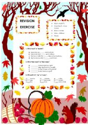 English Worksheets: Revision exercises (22.08.08)
