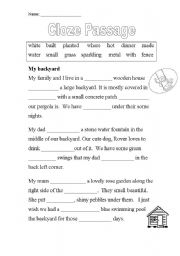Worksheet Cloze Worksheets english teaching worksheets clozes cloze passage