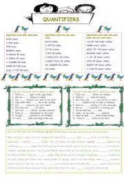 English Worksheets: Quantifiers