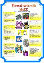 Phrasal verbs with MAKE