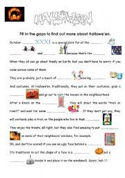 English Worksheet: hallowe�en - easier