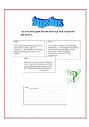 English Worksheets: Suggestions