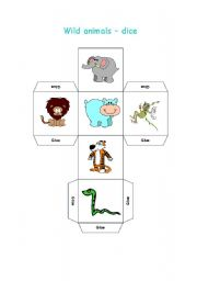 English Worksheets: Wild animals - dice