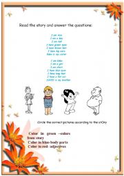 English Worksheets: reading comprehension-2 pages