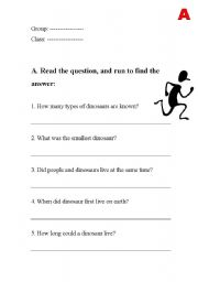 English Worksheets: All about Dinosaurs