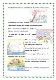English Worksheet: The ugly Duckling Part 2