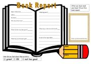 English Worksheet: book report template 2