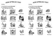 English Worksheets: how often do you