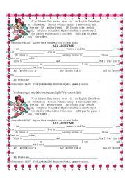 English Worksheets: Description about Minnie