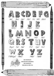 The Alphabet song (grey scale)