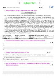 English Worksheets: reading comprehension (corporal punishment)
