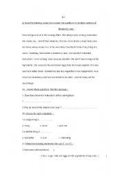 English Worksheets: strawbery cake