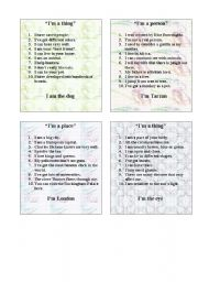 English Worksheets: GAME-10 QUESTIONS PART 5