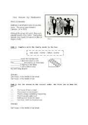 English Worksheets: Our house by Madness - listening activity