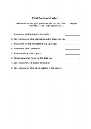 English Worksheets: Embedded Question Activity