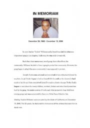 essay on tookie williams Essay stanley tookie williams was known as a fighter and running the streets of south central's westside he attended john c freemont high school but was expelled and never graduated.