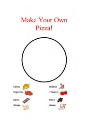 English Worksheet: Make Your Own Pizza!