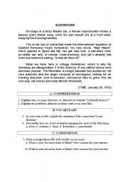 English Worksheets: Almodovar