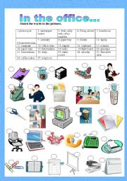 English Worksheet: In the office