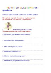 how to change wh questions to indirect speech