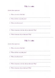 English Worksheets: Film session questions