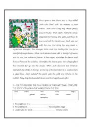 English teaching worksheets: Jack and the Beanstalk