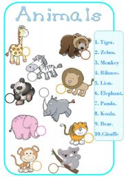 English Worksheets: wilde animals